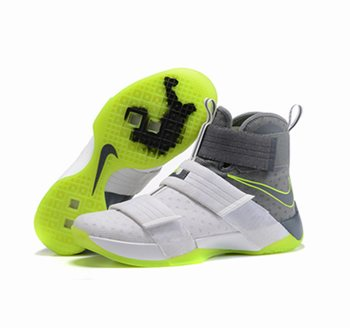 newest 1ac71 0a517 Nike Lebron Soldier 10 X Shoes white black green
